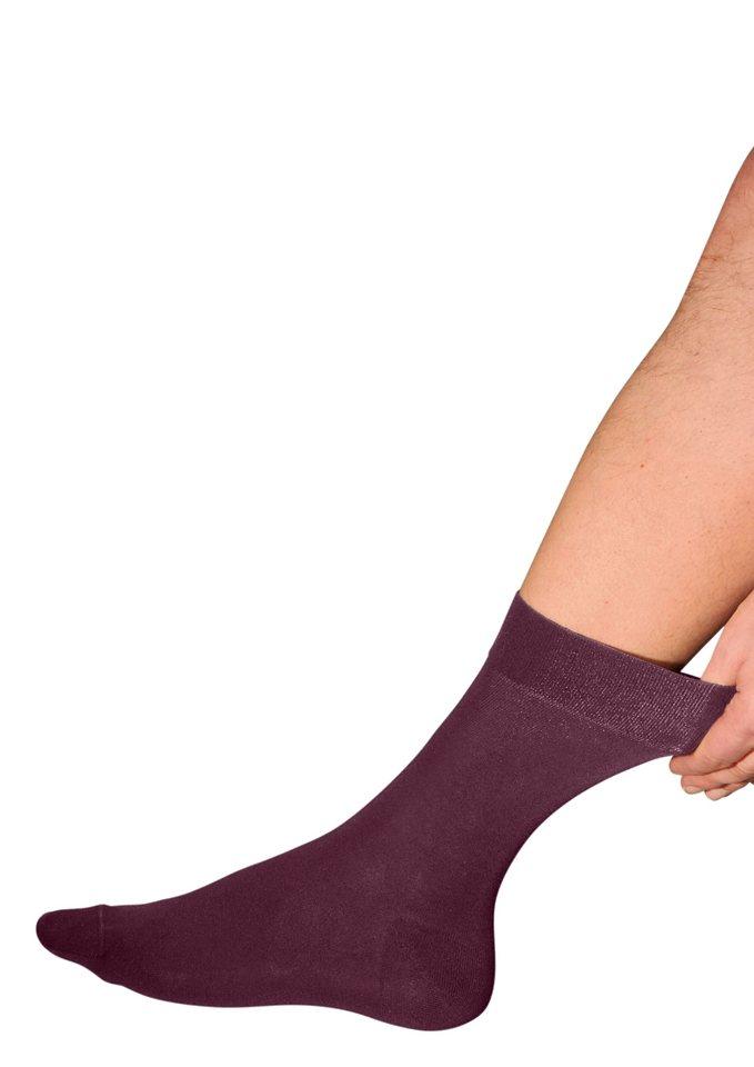 Socke, Rogo (3 Paar) in bordeaux
