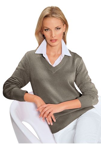 CASUAL LOOKS Megztinis su streckendem su V formos i...