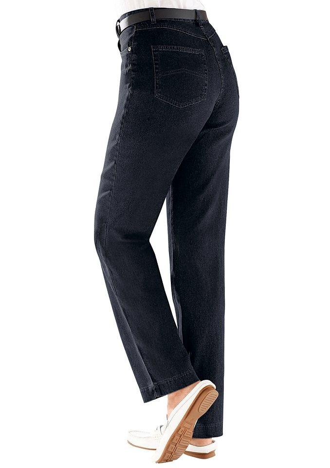 Collection L. Jeans mit seitlichem Dehnbund in schwarz