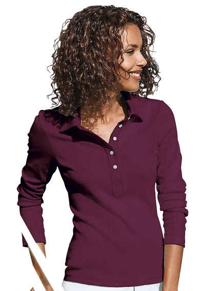 Poloshirt Langarm Damen