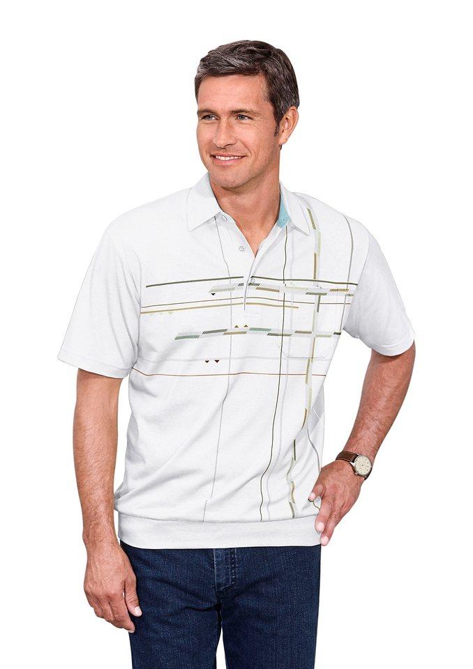 Hajo Shirt mit grafischem Druck im Vorderteil