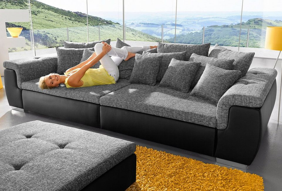 Big-Sofa in schwarz