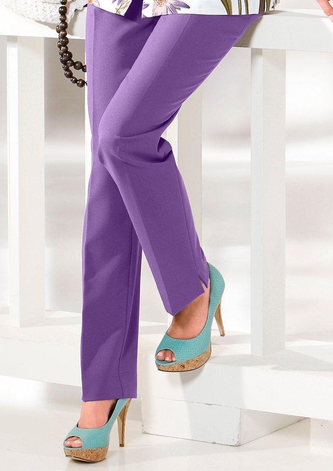 Classic Basics Hose mit elastischem Bund in lila