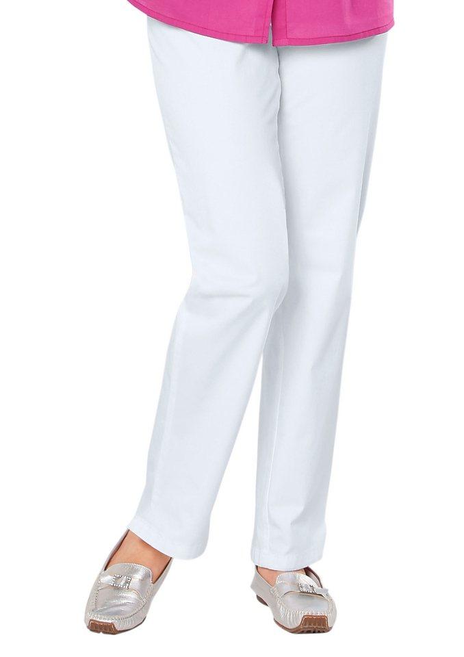 Classic Basics Jeans mit seitlichem Dehnbund in weiß
