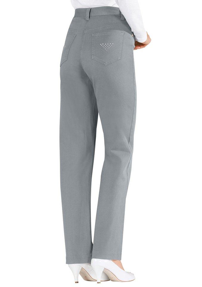 Lady Jeans mit rückwärtigem Dehnbund in grau