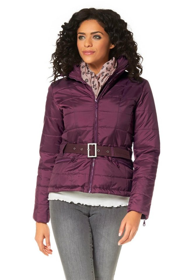 Boysen's Steppjacke mit Kapuze in bordeaux