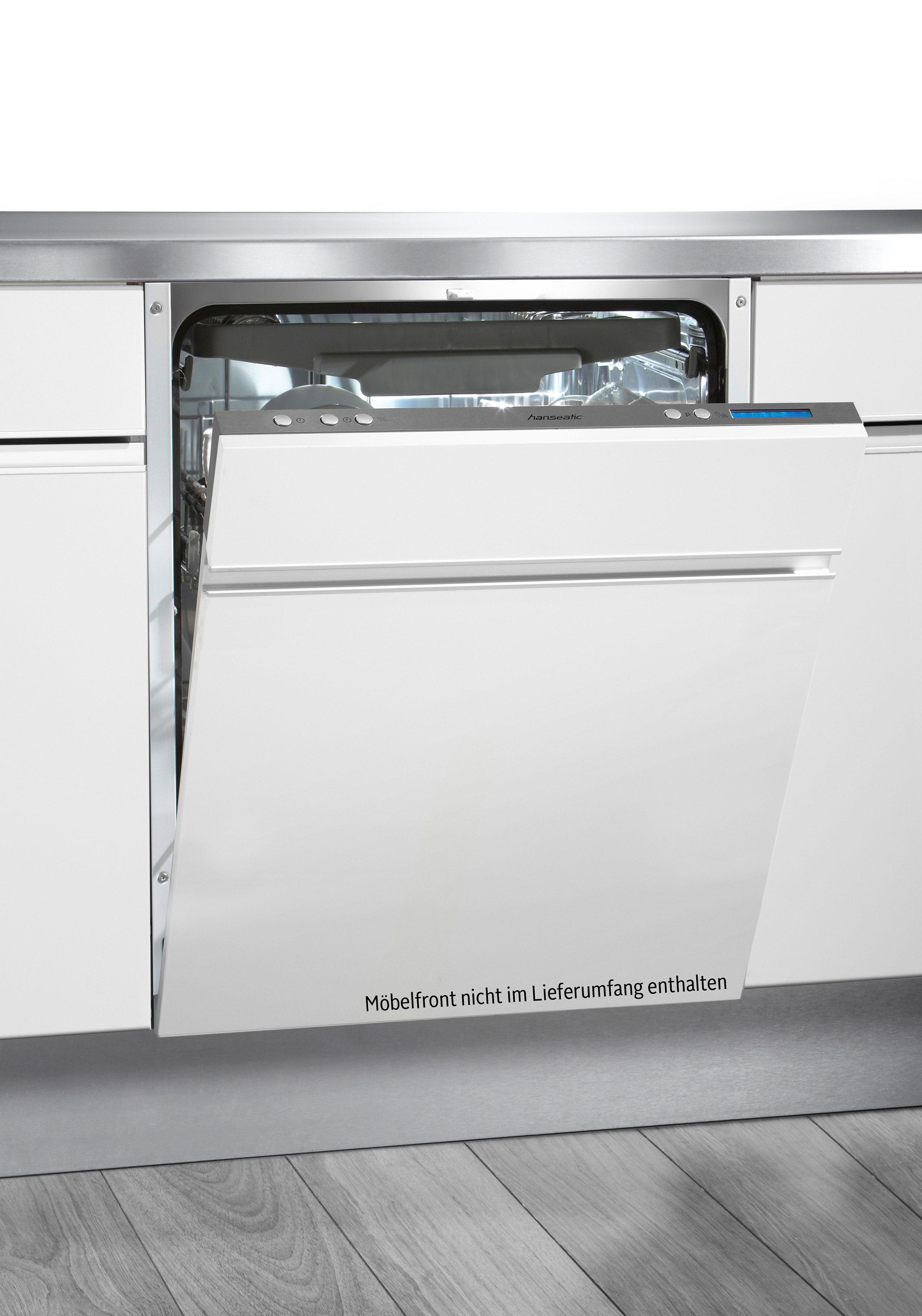Hanseatic vollintegrierbarer Einbau-Geschirrspüler WQP12U7311F, A+++, 10 Liter