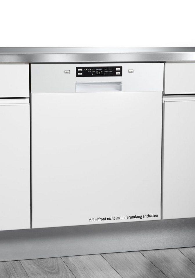 Hanseatic Integrierbarer Einbaugeschirrspüler WQP12-J7309E, A++, 11 Liter, für 14 Maßgedecke in weiß