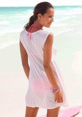 Damen Venice Beach Longshirt rosa | 08698826195424