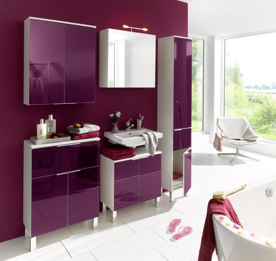 Schön Badezimmer Idee In Beerenfarben