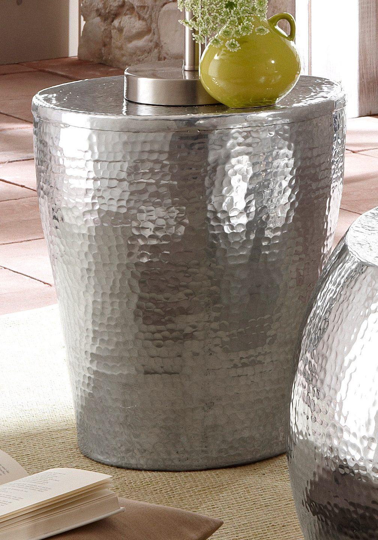 Home affaire Beistelltisch, aus Aluminium in Hammerschlag-Optik