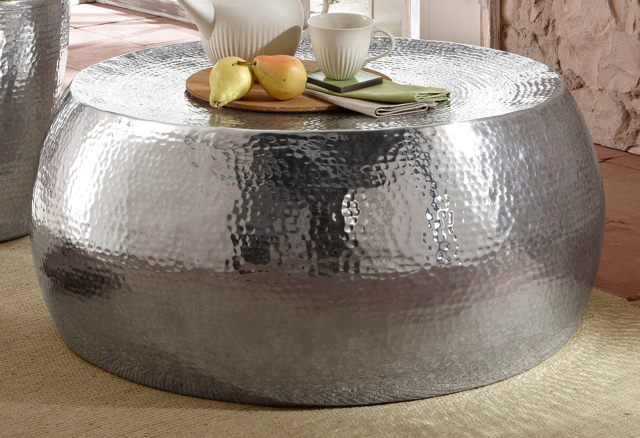 Home affaire, Couchtisch aus Aluminium in Hammerschlag-Optik
