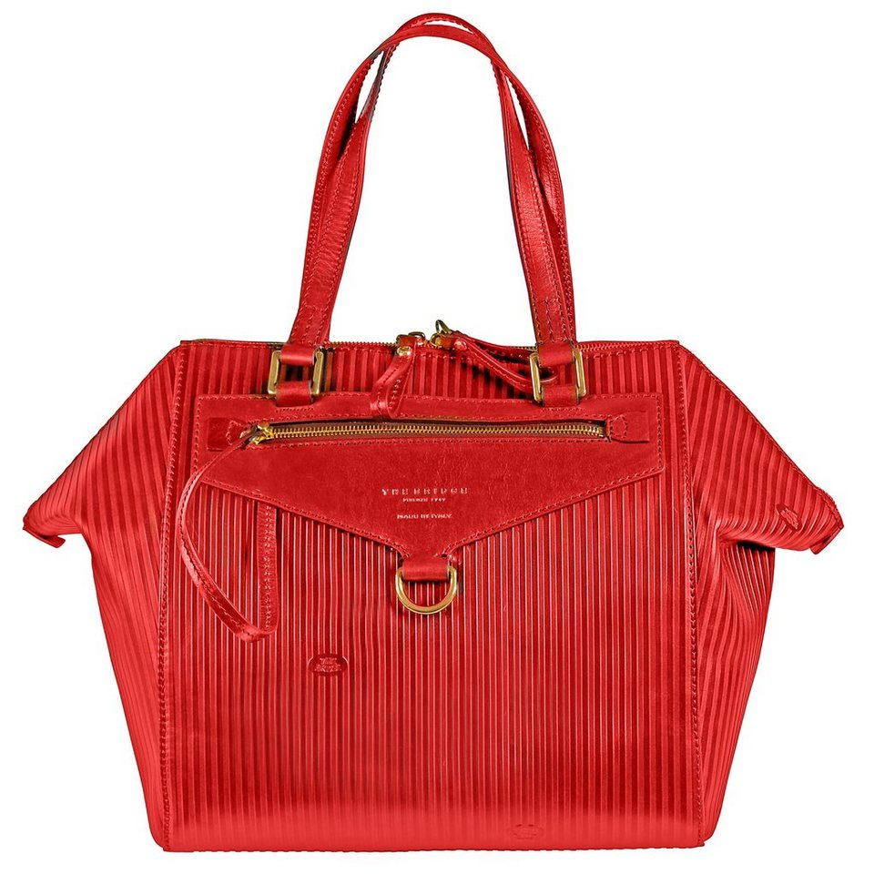 The Bridge The Bridge Heritage Luxe Donna Shopper Henkeltasche Leder 30 cm in red
