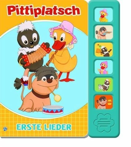 Buch mit Papp-Einband »Soundbuch Pittiplatsch Schnatterinchen und...«