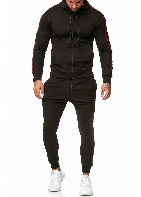 OneRedox Jogginganzug »1004AC« (Sportanzug Jogger Trainingsanzug, im modischem Design), Fitness Freizeit Casual