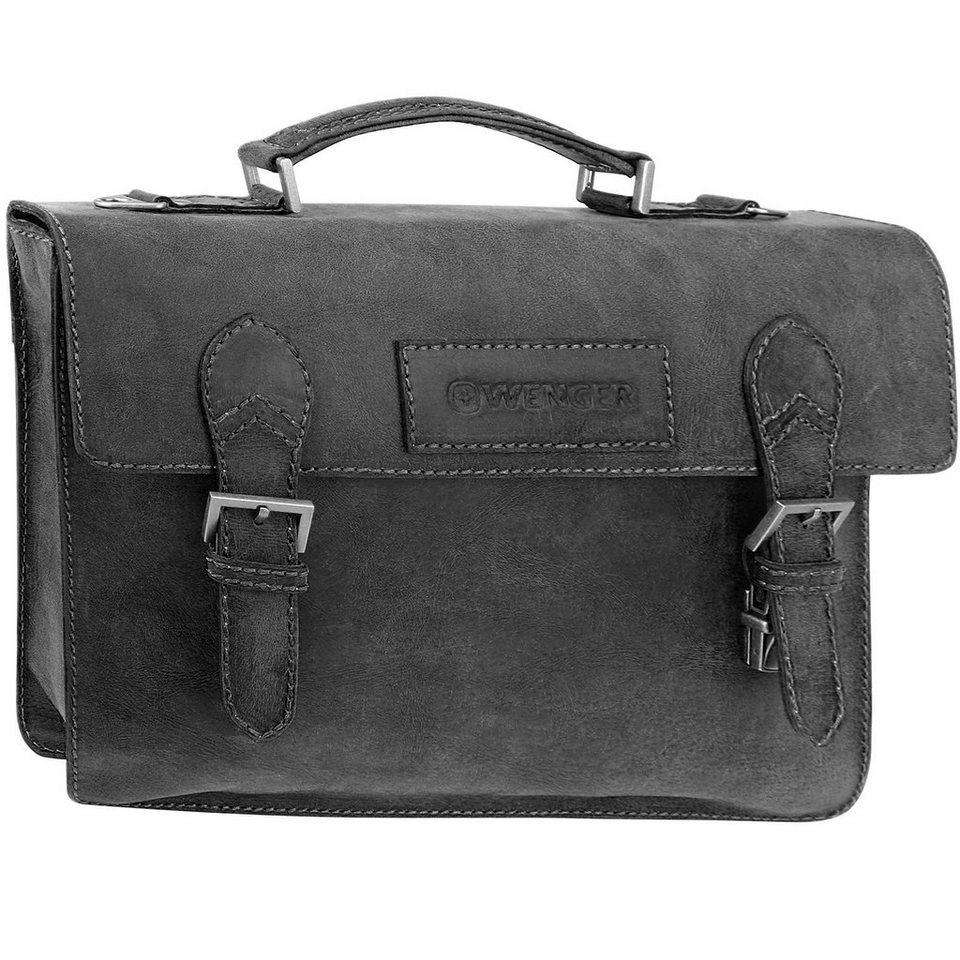 Wenger Arizona Aktentasche Leder 40 cm Laptopfach in schwarz