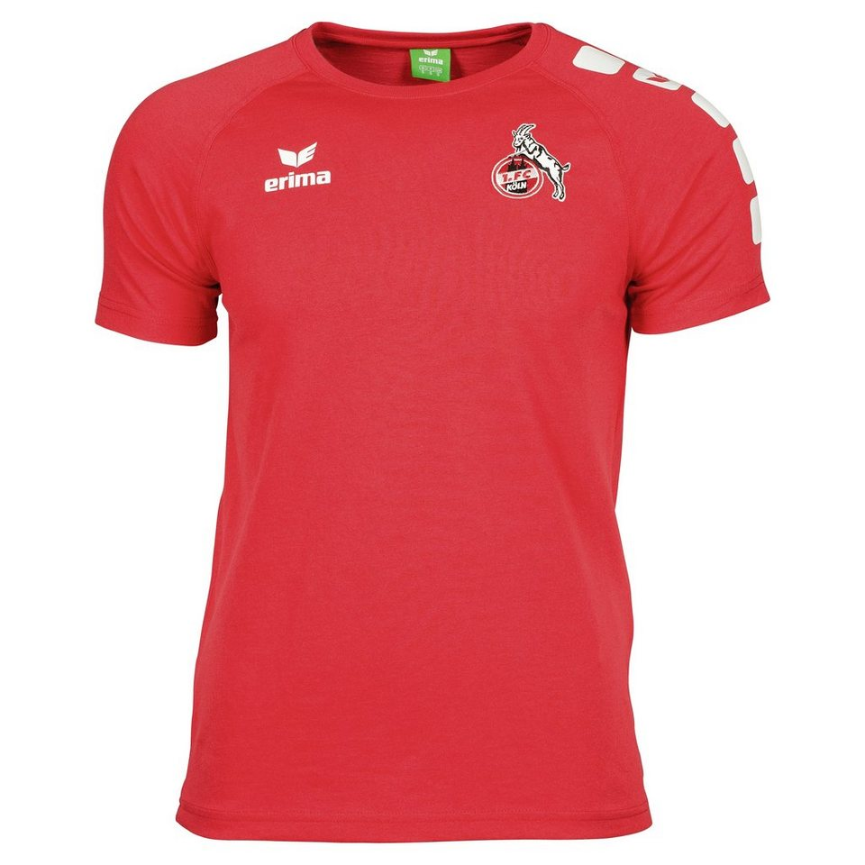ERIMA 1.FC Köln 5-CUBES T-Shirt Herren in rot