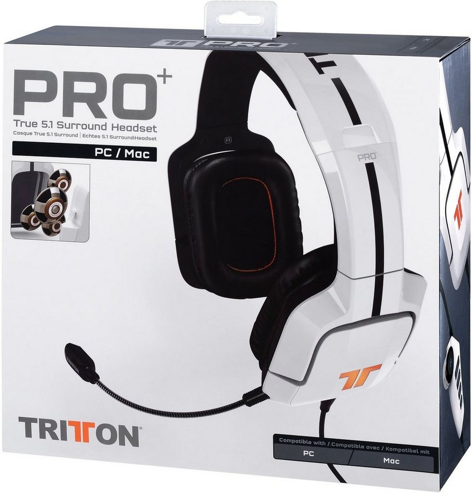 Mad Catz Headset Tritton Pro+ True Weiss 5.1 Surround Sound »(PC)«