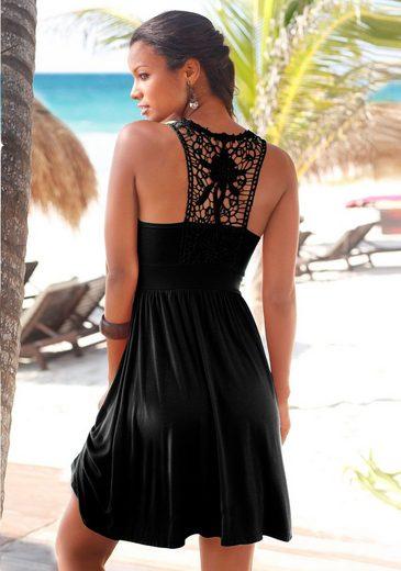 LASCANA Strandkleid mit Spitzenrücken