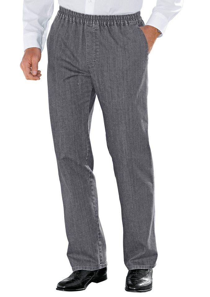 Brühl Jeans mit Dehnbund in grau-denim