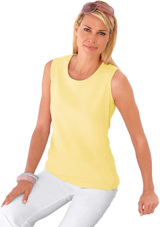 Collection L. Shirttop in sehr hochwertiger Jersey-Qualität in zartgelb