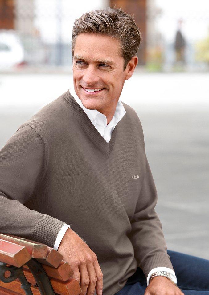 Classic V-Pullover im edlen Feinstrick   Bekleidung > Pullover > V-Pullover   Marco Donati