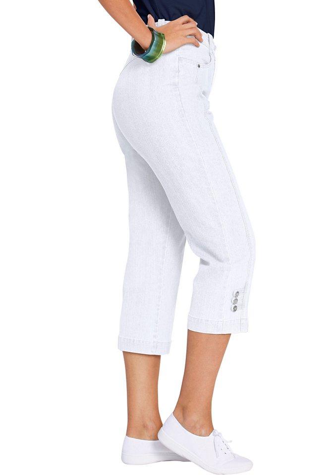 Damen Collection L. Jeans mit Dehnbund weiß | 06941938264833