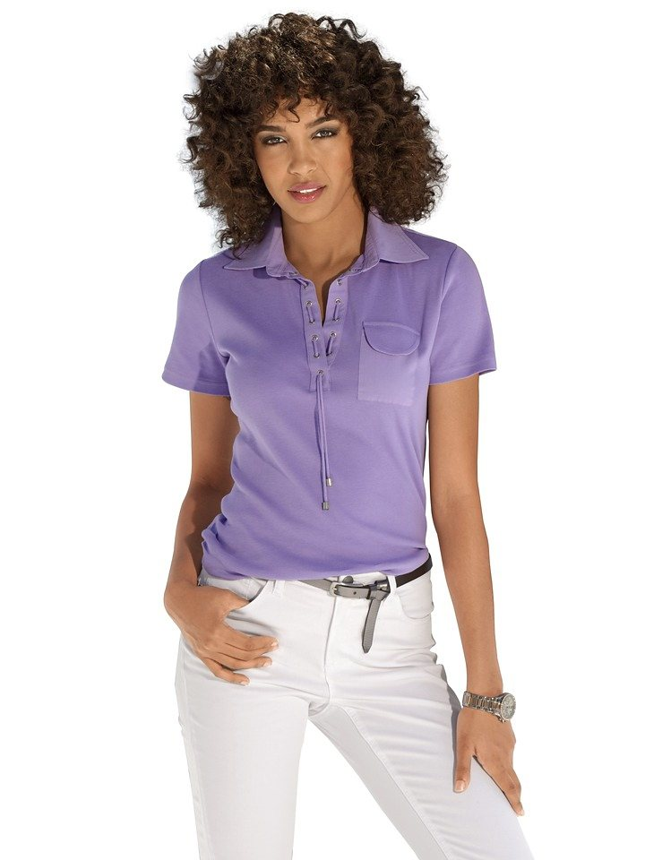 B.C. BEST CONNECTIONS by Heine Poloshirt in lila