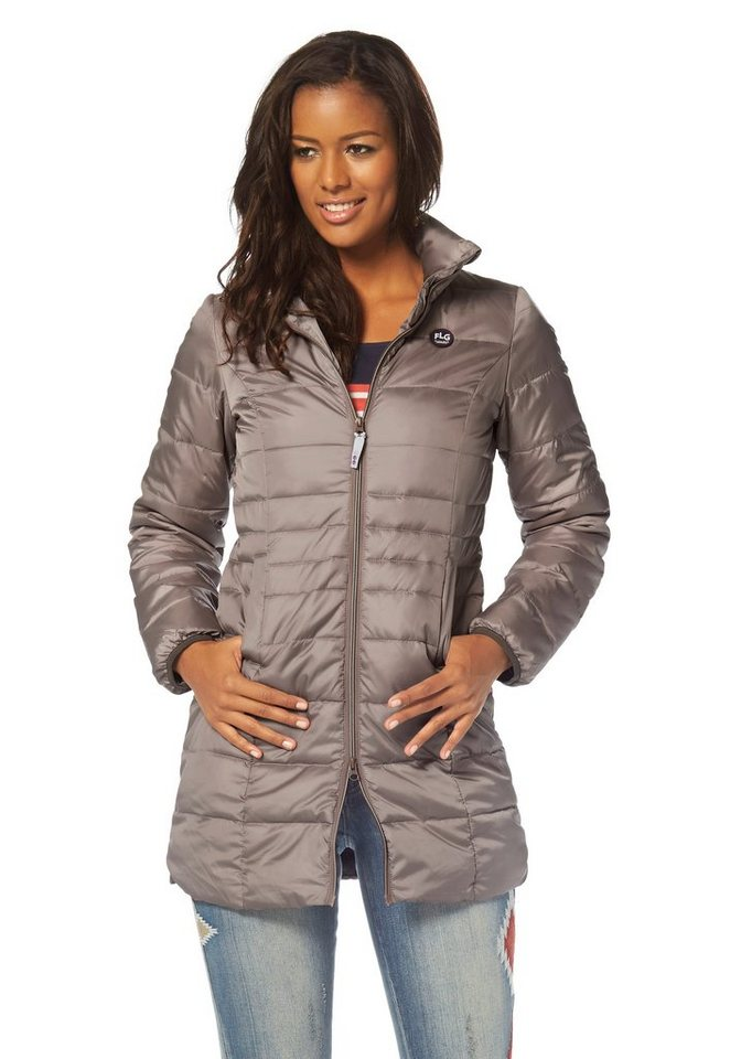 Flashlights Steppjacke in Langform in taupe