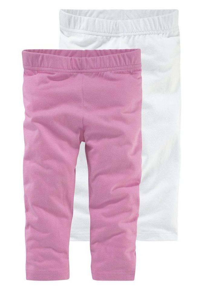 Kidoki Leggings 3/4 lang (Packung, 2 tlg.) in rosa-weiß