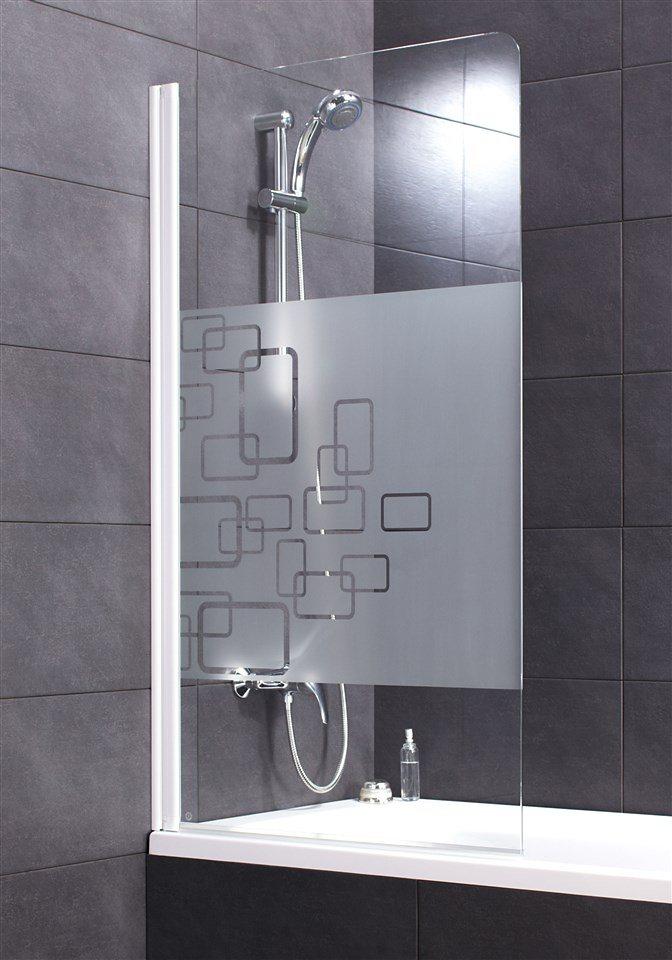 Badewannenaufsatz »Softcube« in weiß