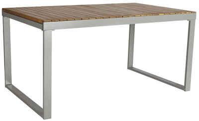Gartentisch »Monaco«, Alu/Akazienholz, Ausziehbar, 200x90 Cm, Braun