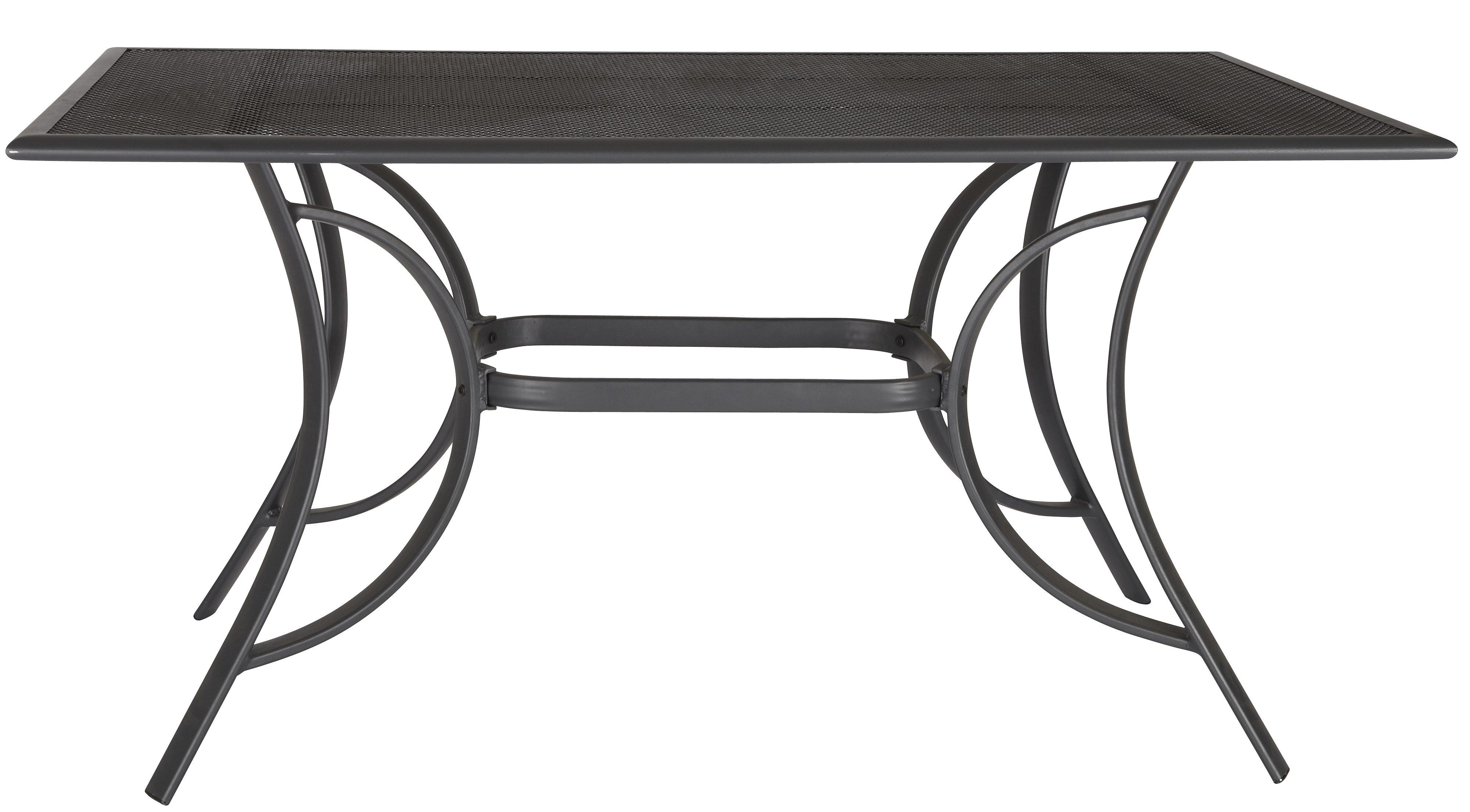 MERXX Gartentisch »Montreal«, Aluminium, 150x90 cm, schwarz