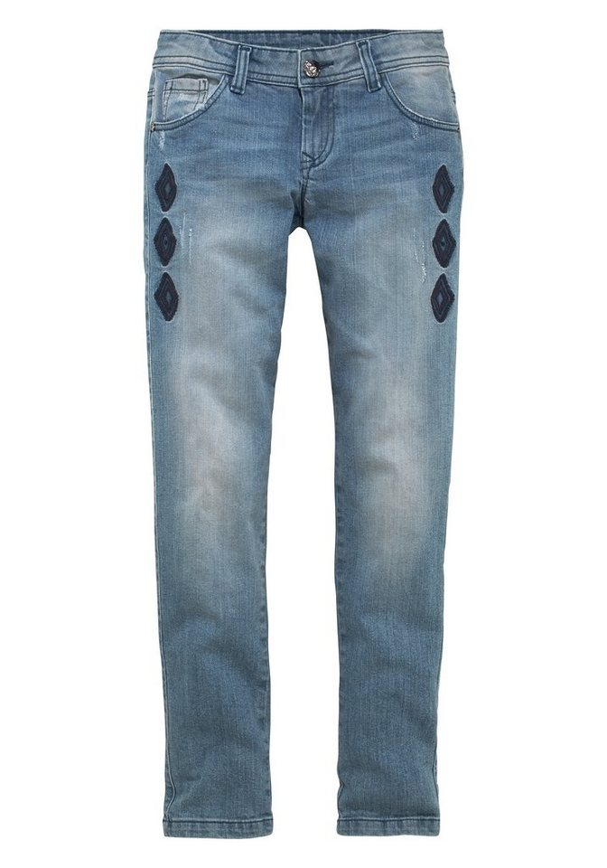 Arizona 5-Pocket-Jeans in blue-denim-used