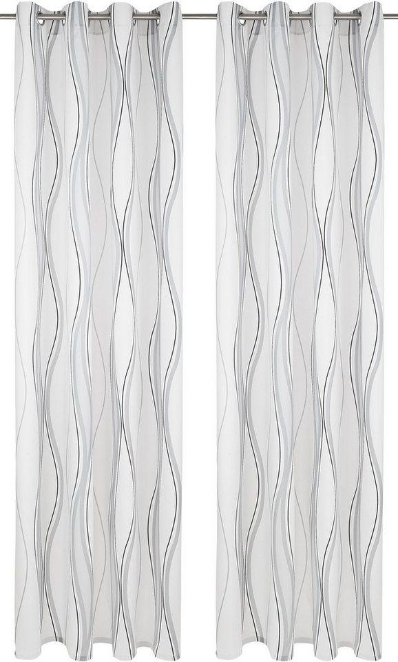 Vorhang, my home, »Yuma« (2 Stück) in creme-grau