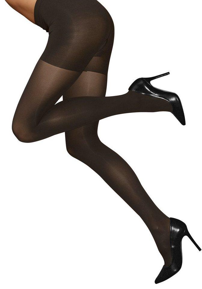 Shaping-Strumpfhose »Opaque«, LASCANA, Feinstrumpfhose mit Formeffekt für Hüfte, Bauch und Po in 1x schwarz