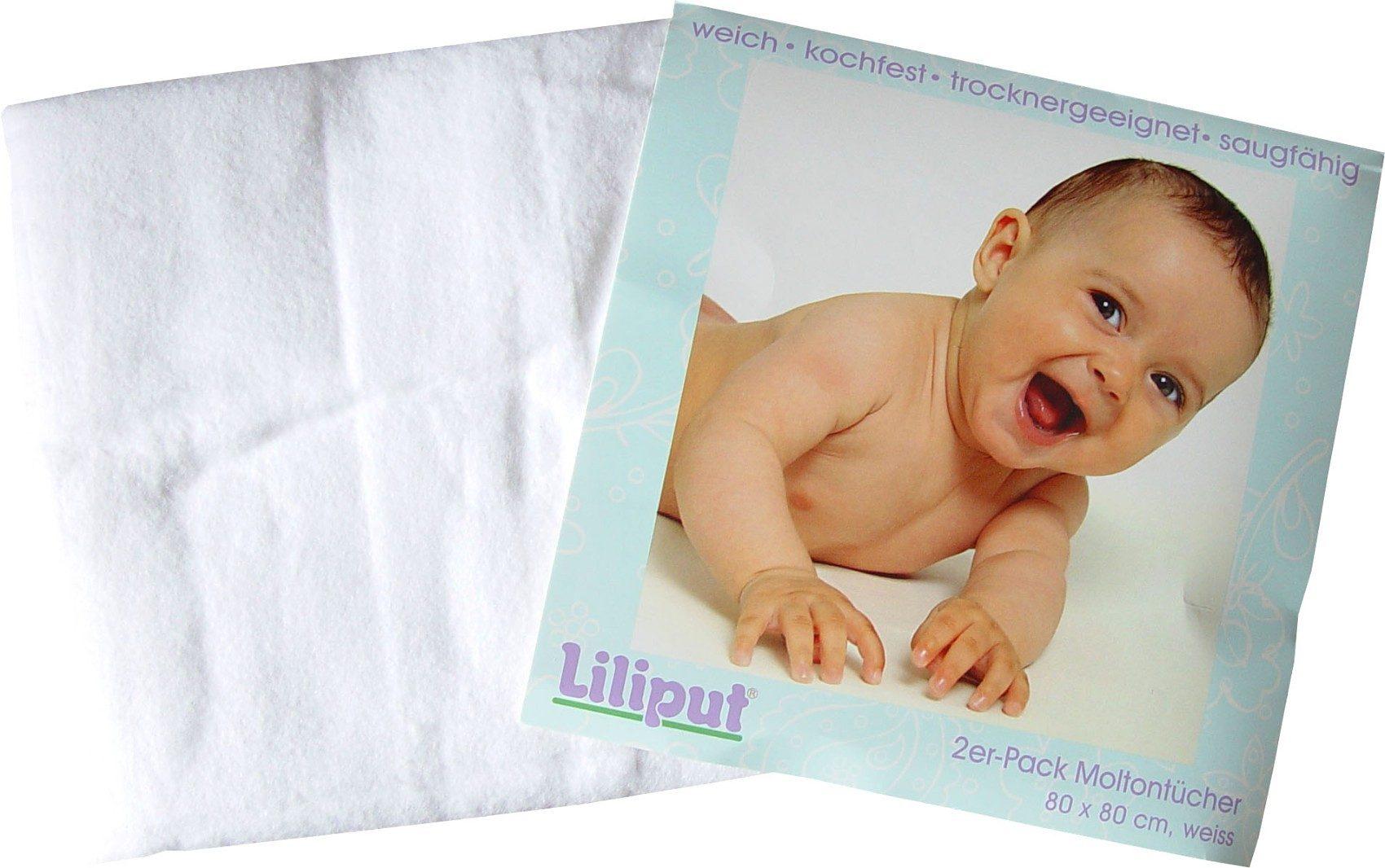 Liliput Moltontuch, 2er Pack weiss
