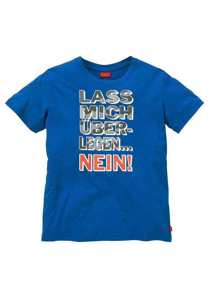 """CFL T-Shirt """"Lass mich überlegen....NEIN"""" in royalblau"""