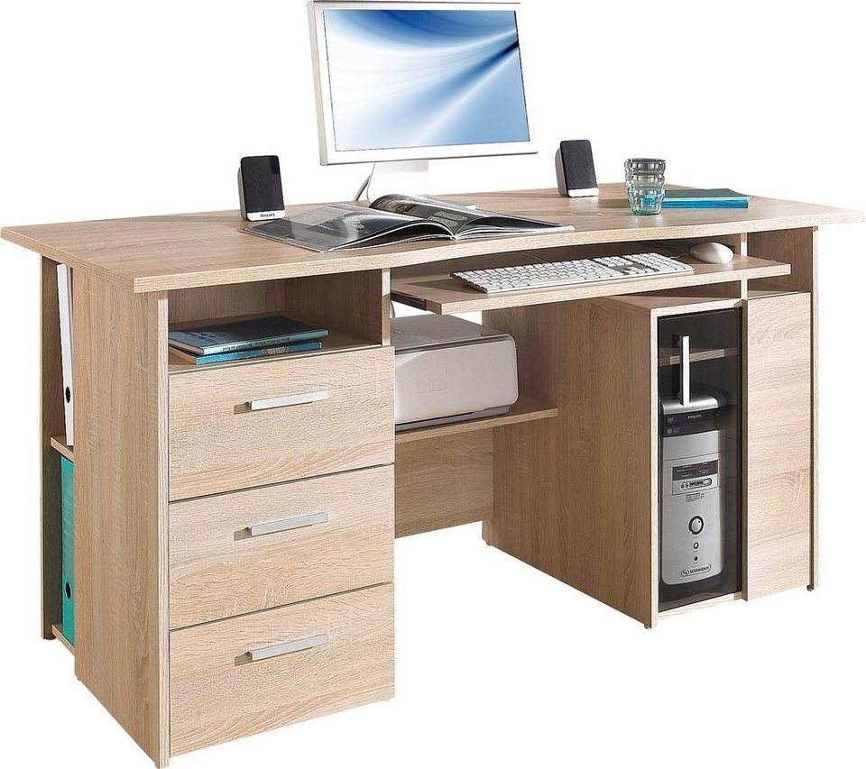 maja m bel computertisch heide mit tastaturauszug und druckerfach online kaufen otto. Black Bedroom Furniture Sets. Home Design Ideas