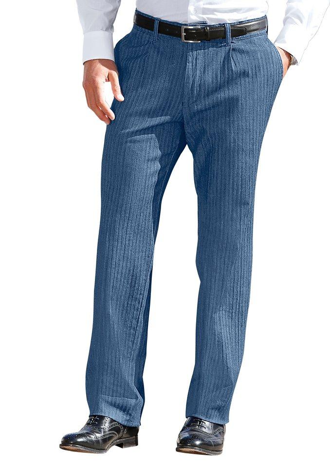 Francesco Botti Jeans mit Bundfalten in blue-stone-washed