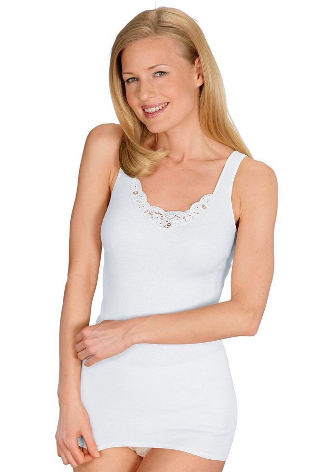 Achsel-Hemd, Mey in weiß