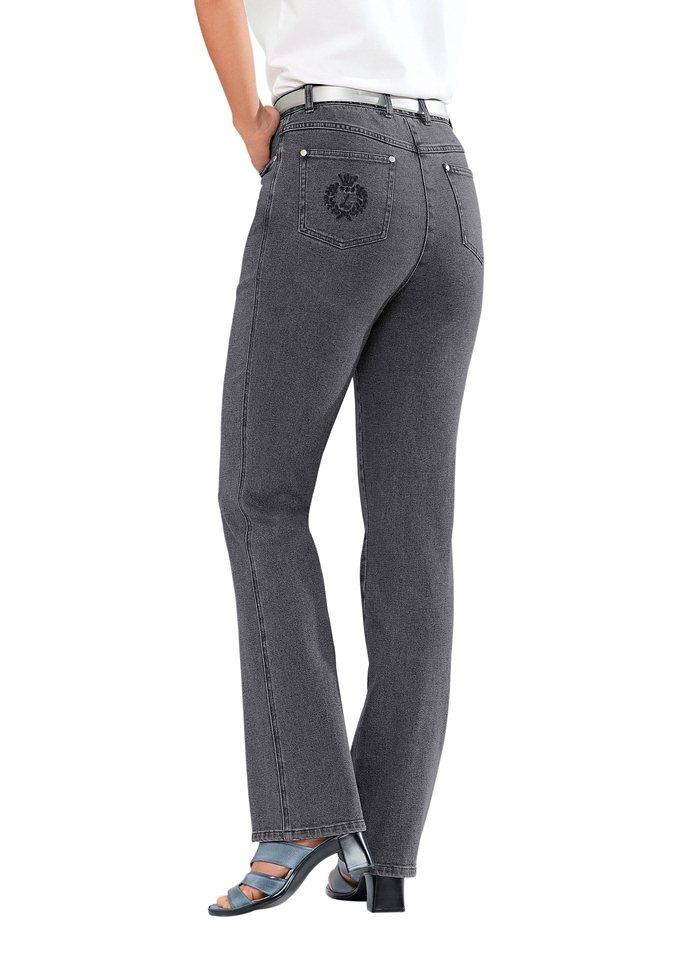 Collection L. Jeans in gerader Schnittführung in grau