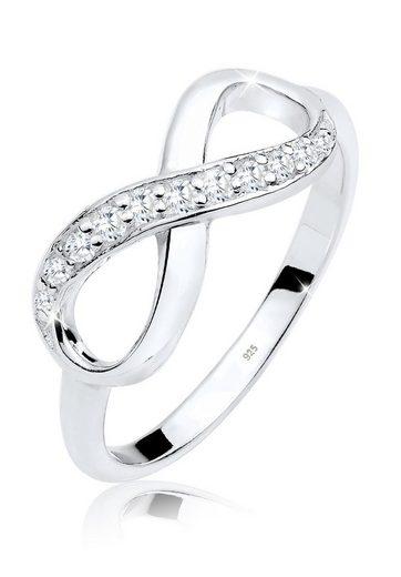 Elli Ring »Infinity Eye Catcher Glanzvoll Zirkonia 925 Silber«