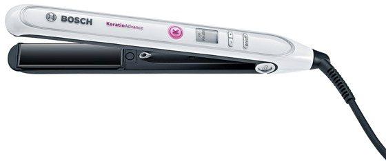 Bosch, Haarglätter, PHS5987 BrilliantCare Keratin Advance in weiß/silber