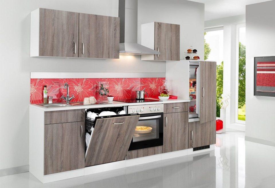WIHO KÜCHEN Küchenzeile mit E-Geräten »Porto«, Breite 280 cm online kaufen  | OTTO