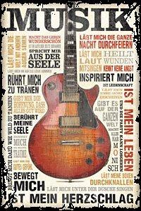 Bild, Home affaire, »Musik ist Leidenschaft«, 60/90 cm in braun