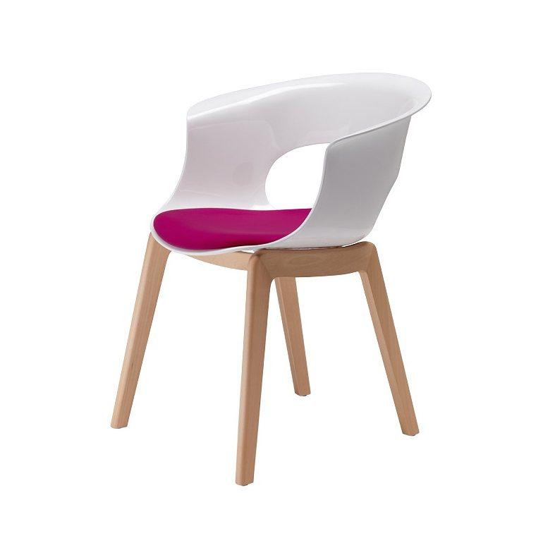 salesfever designer stuhl wei mit kissen miss b natural antishock online kaufen otto. Black Bedroom Furniture Sets. Home Design Ideas