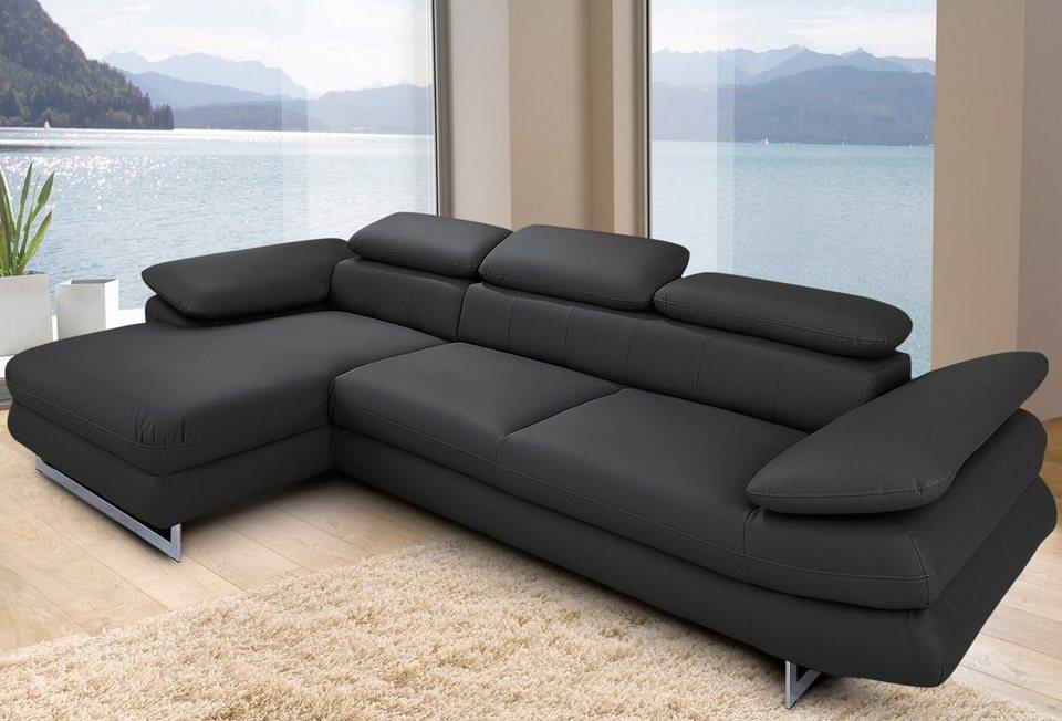 inosign ecksofa wahlweise mit bettfunktion kaufen otto. Black Bedroom Furniture Sets. Home Design Ideas