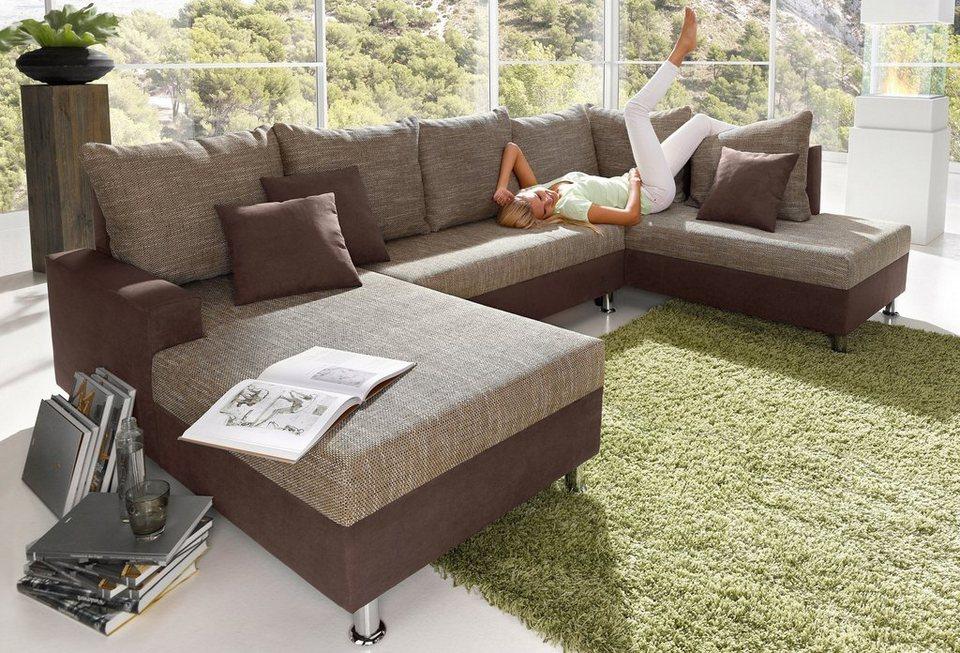 wohnlandschaft sit more mit bettfunktion otto. Black Bedroom Furniture Sets. Home Design Ideas