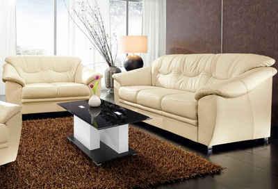 sit&more Polstergarnitur, (2-tlg), bestehend aus je einem 2- und 3-Sitzer, inklusive Federkern